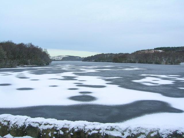 Frozen Anglezarke Reservoir