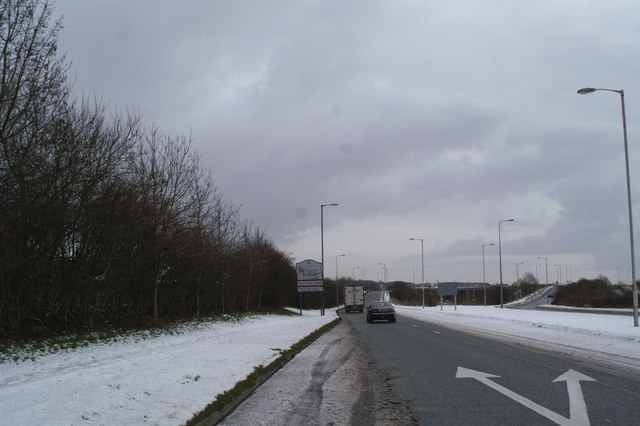 The road off the M6 at Shevington