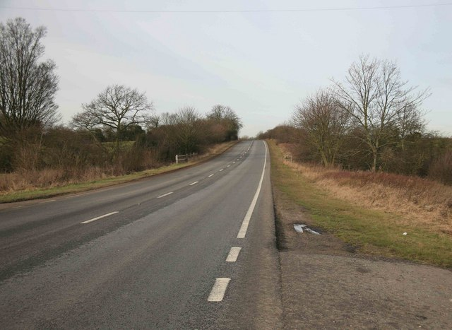 The A616 nr Caunton
