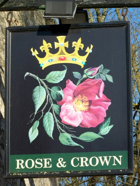 Sign for the Rose and Crown