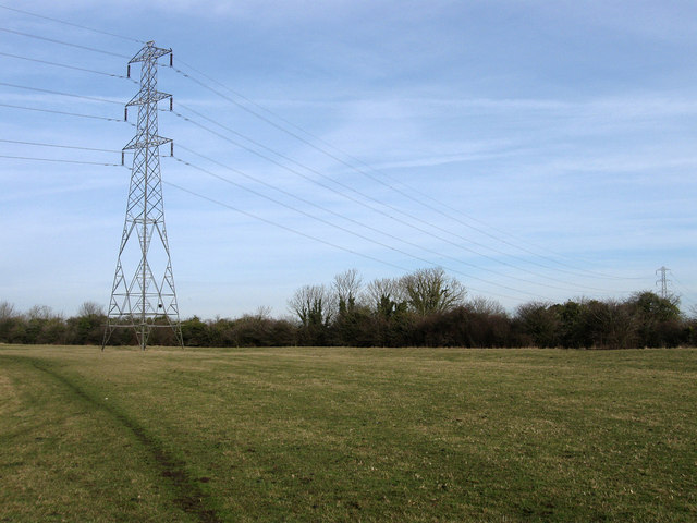 Electricity Pylons near Rickney