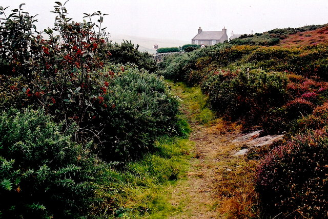 Mull Hill - Footpath near Cregneash parking area