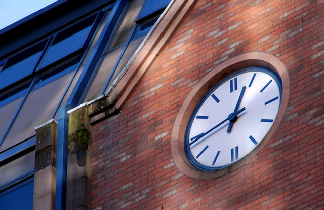 "The ""Plaza"" clock, Belfast"