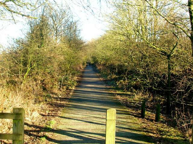 Trackbed of former Morecambe to Leeds railway