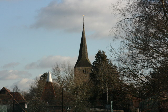 The spire of St Mary's Church, Hartfield