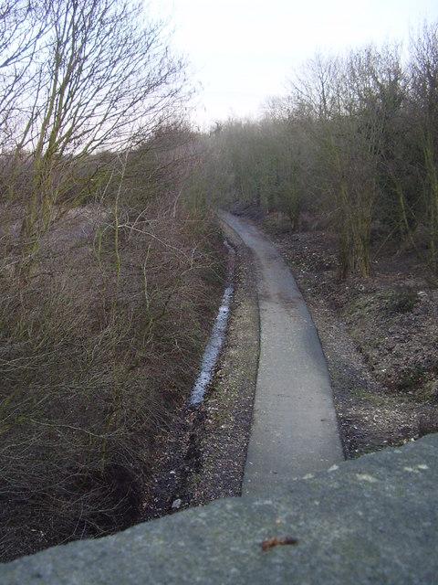 Dismantled railway line