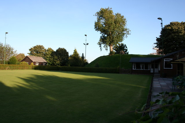 Bowling green and motte, Malpas