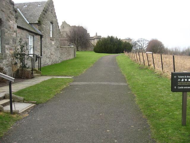 Path to Craigmillar Castle
