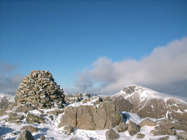 Lingmell summit cairn