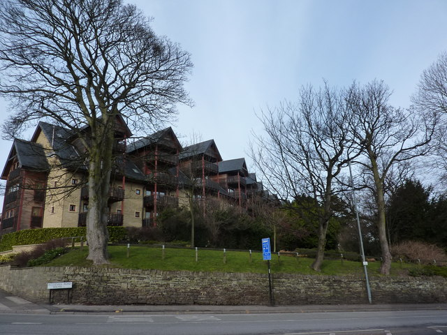 Swiss chalet school of apartment block building