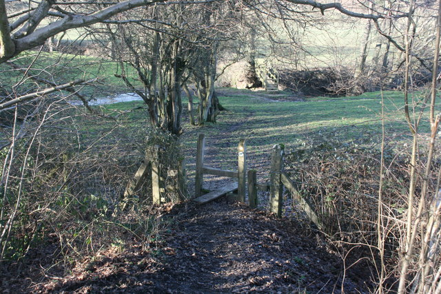Stile on the High Weald Landscape Trail near the Forest Way
