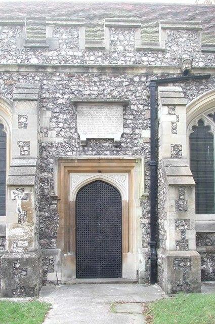 St Martin, Ruislip - Doorway