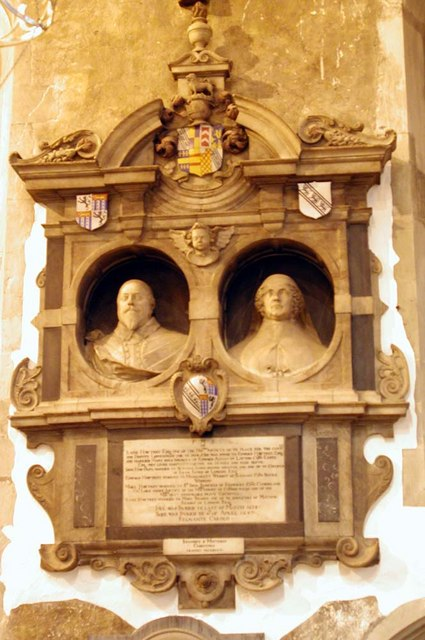 St Martin, Ruislip - Wall monument