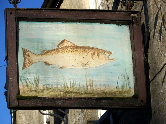 Sign for the Trout Inn