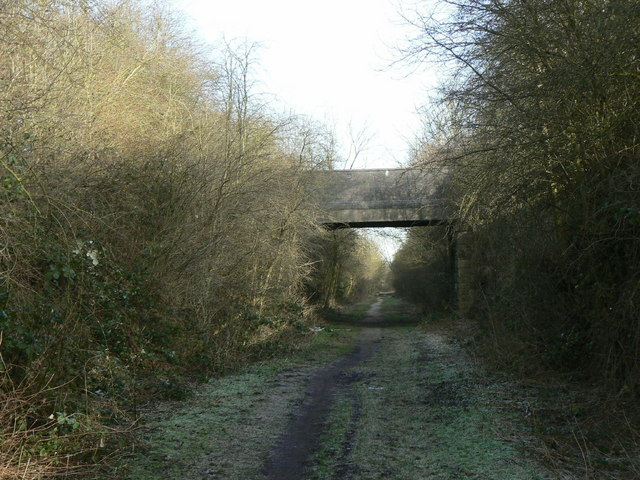 Former railway cutting