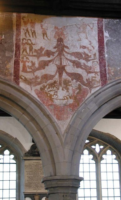 St Martin, Ruislip - Wall painting