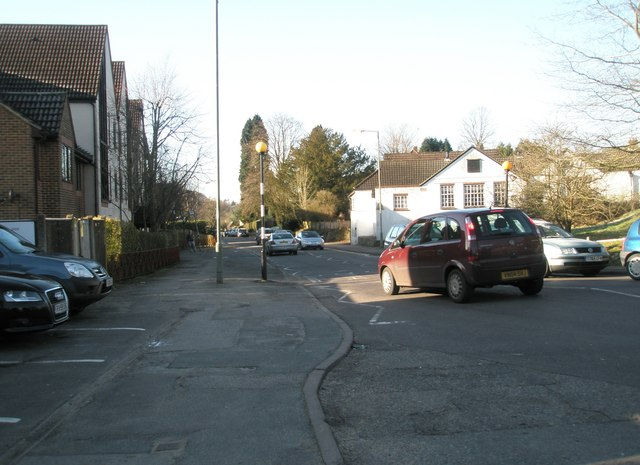 Approaching a bus stop in Liphook Road