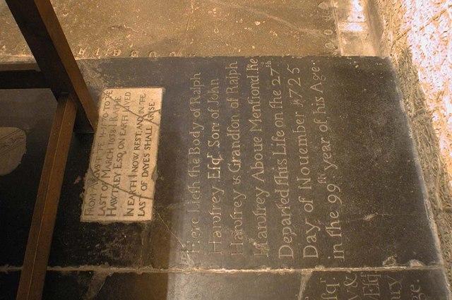 St Martin, Ruislip - Ledger slab