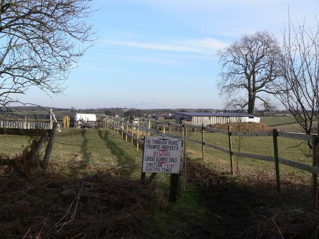 Stabling and paddocks near Pleasley