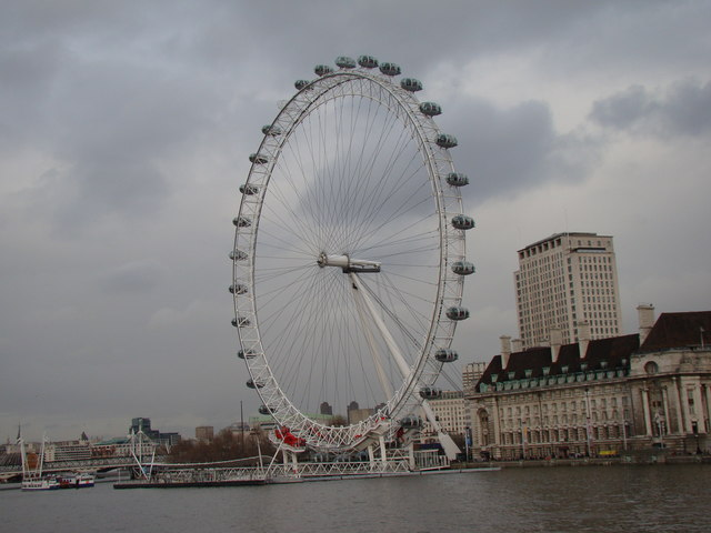 View of the London Eye from Westminster Bridge