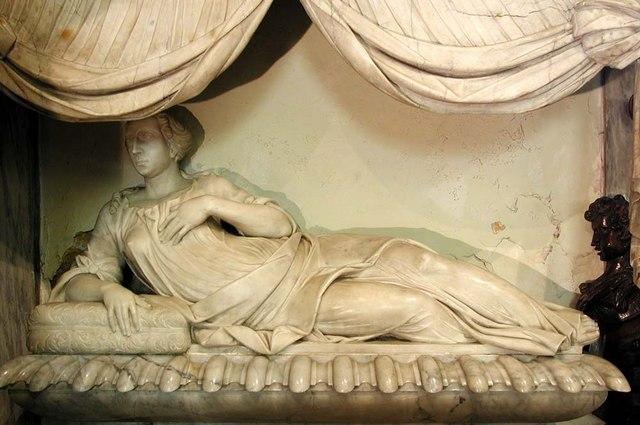 St Mary, Harefield - Monumental effigy