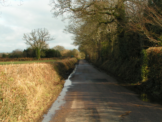 Lane heading to Tipton Cross