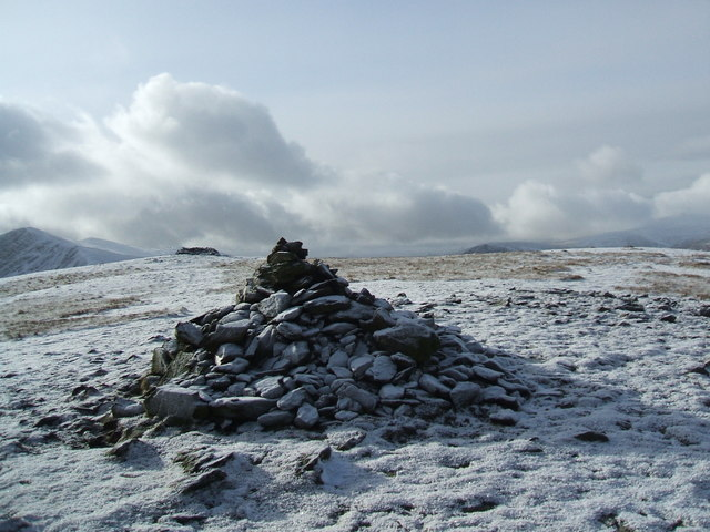Pile of stones on Bowscale Fell