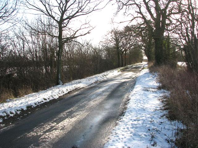 Snow on Woodton Road