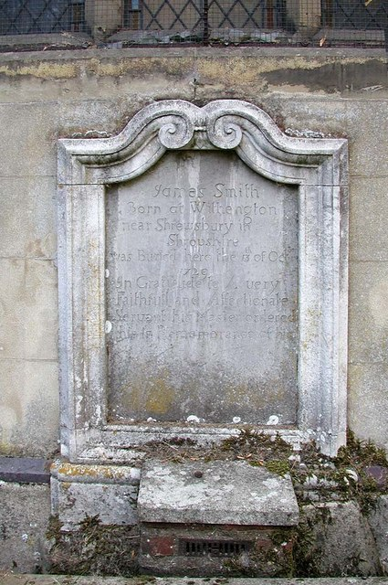 St Mary, Harefield - Wall monument