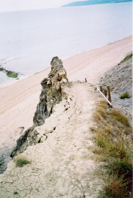 Crumbling cliffs at St Gabriel's Mouth