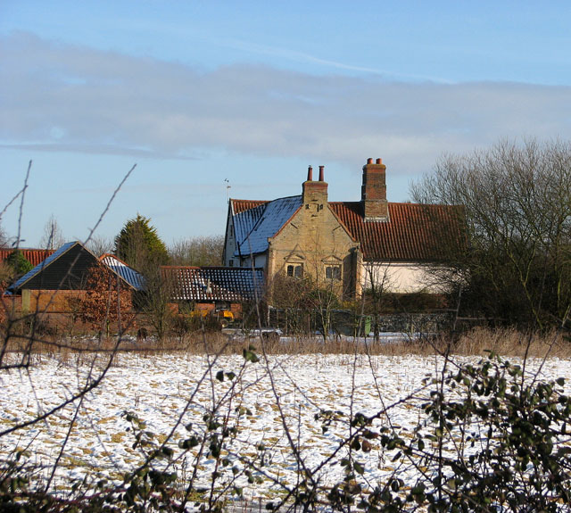 Oaks Farm viewed from Woodton Road