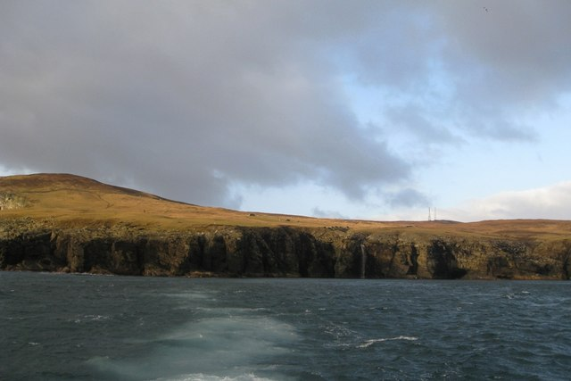 The Croft at the Veng from the sea.