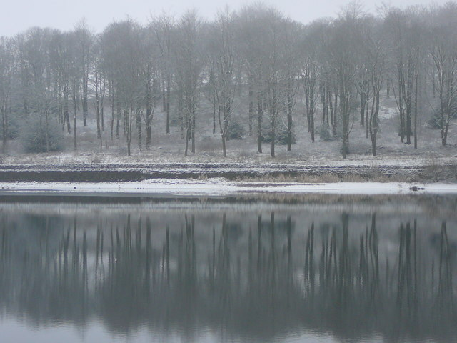 Reflections across Ridgegate Reservoir