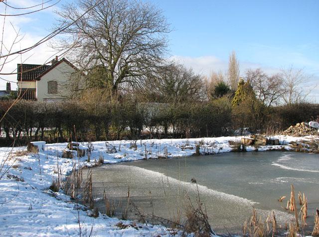 A frozen pond