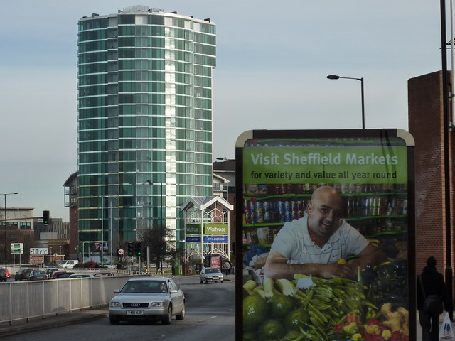 Tower block and advertising