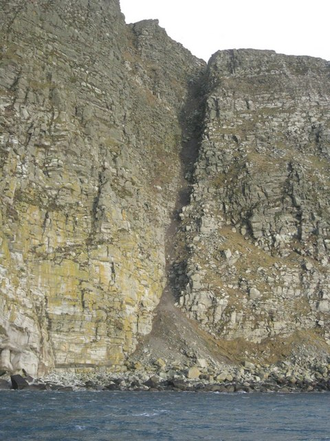 The Ayre of Baga looking up the ord cliffs