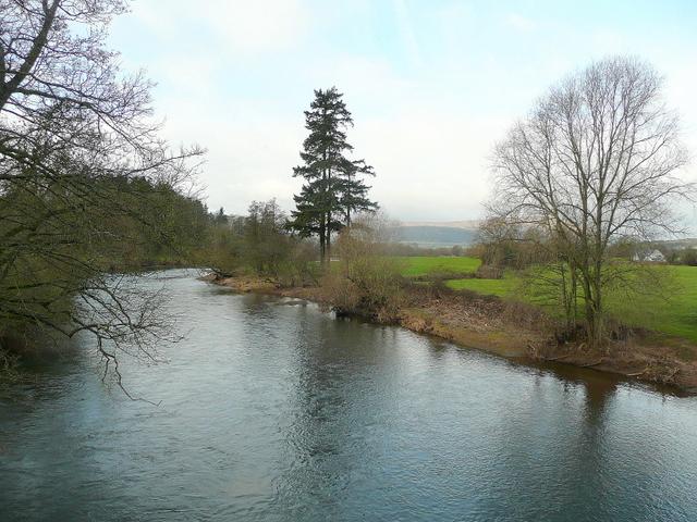 River Usk at Llanvihangel Gobion