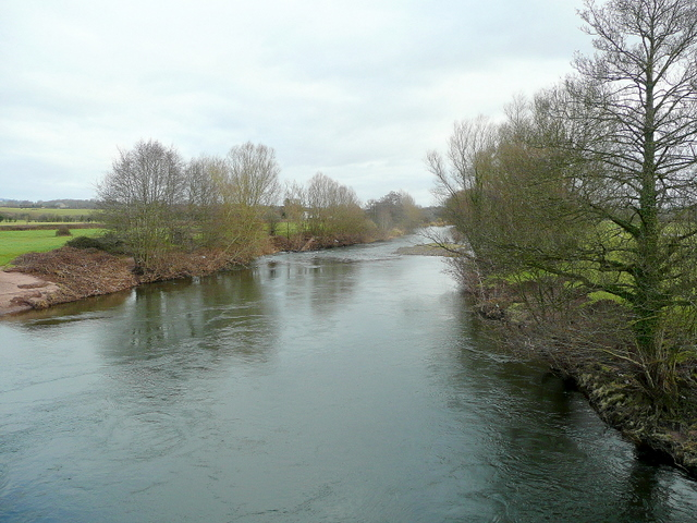 River Usk at Llanvihangel Gobion