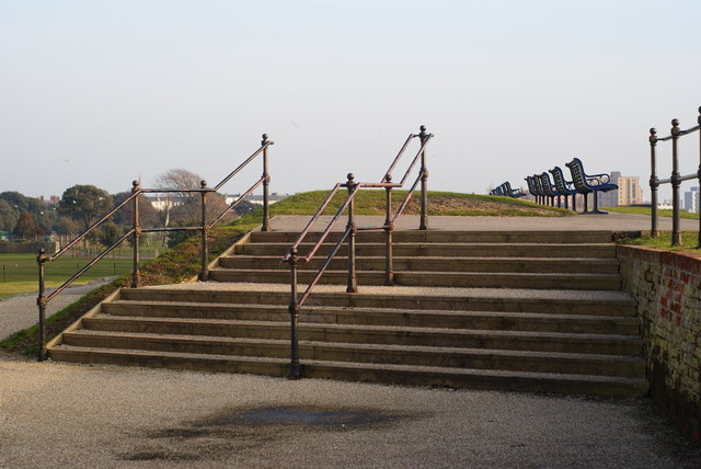 Steps to the Promenade