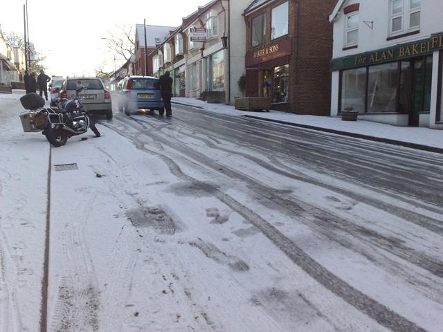 Ice on Wey Hill
