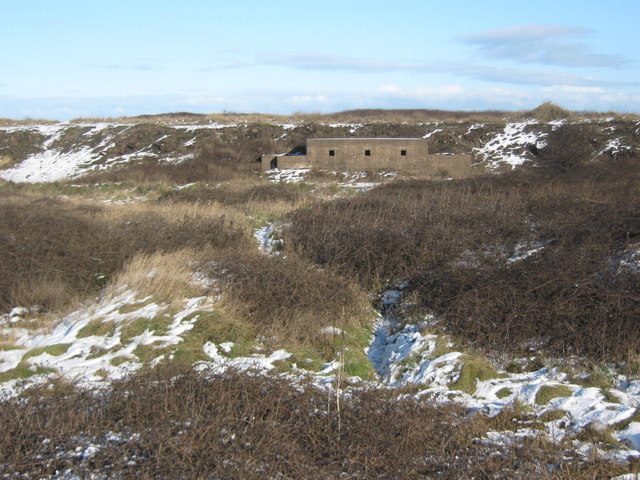 WW2 pillbox in sand dunes near Teesmouth