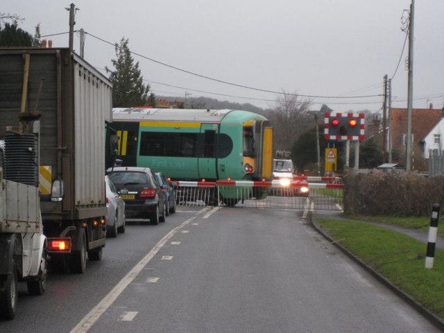 Cooksbridge -  level crossing