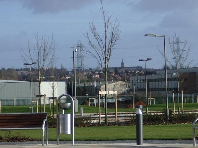 Garden area, Student campus, Perry Barr