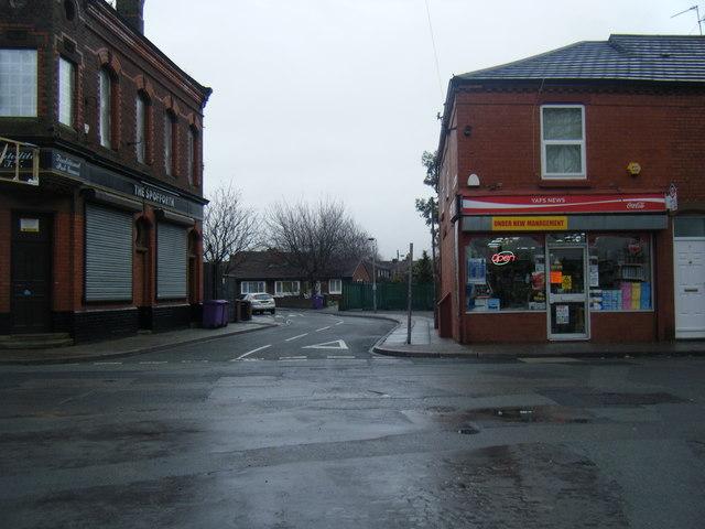 Webster Road/Cadogan Street junction.