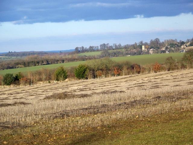 Stubble field near Friars Hill