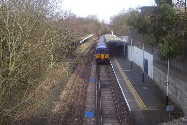 Chessington South Station from Garrison Lane bridge