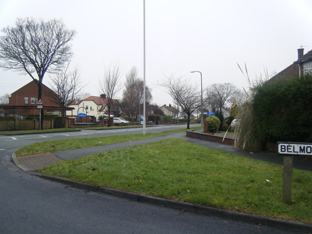 Pensby Road at Belmont Drive.