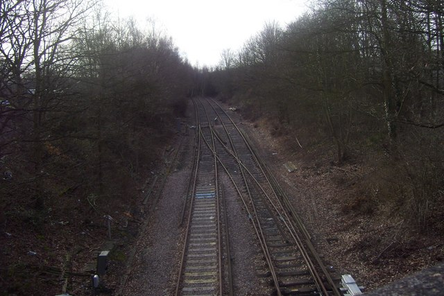 End of the line at Chessington South from Garrison Lane bridge