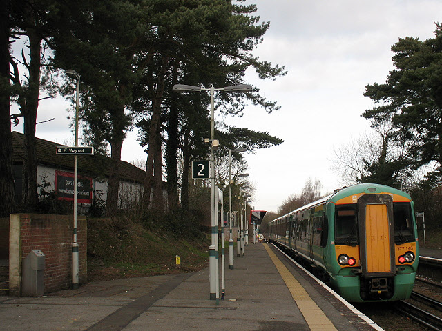 Tadworth station with Oyster reader