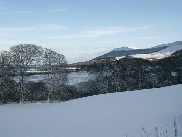 Struie Hill in winter, from Fearn
